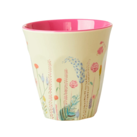 Rice Medium Melamine Cup with Summer Flowers Print