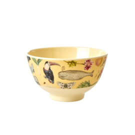 Rice Small Melamine Bowl - Creme Art Print