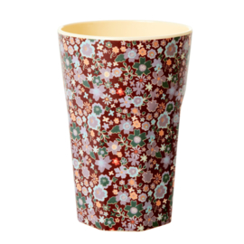 Rice Tall Melamine Cup - Fall Floral Print