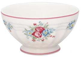 GreenGate French Bowl Extra Large Henrietta white -stoneware-