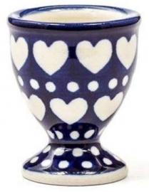 Bunzlau Egg Cup Blue Valentine