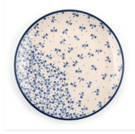 Bunzlau Plate 25,5 cm Damselfly
