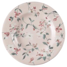 GreenGate Small Plate Jolie pale pink -stoneware-