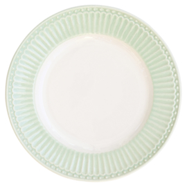 GreenGate Small Plate Alice pale green -stoneware-