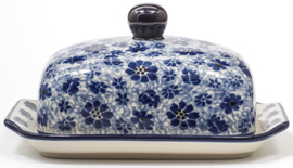 Bunzlau Butter Dish with Plate Dragonfly
