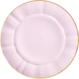 Rice Porcelain Charger Plate - Bubblegum Pink