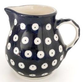Bunzlau Creamer Jug 180 ml Blue Eyes -doorlopend blauw, zonder wit randje aan bovenzijde-