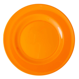 Rice Melamine Round Dinner Plate in Tangerine