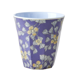 Rice Medium Melamine Cup - Two Tone - Hanging Flower Print