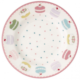 GreenGate Small Plate Madelyn white -stoneware-