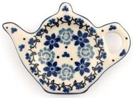 Bunzlau Teabag Dish Teapot 10 cm Belle Fleur