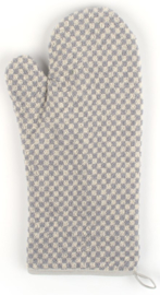 Bunzlau Oven Glove Small Check Grey