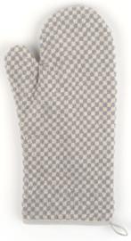 Bunzlau Oven Glove Small Check Grey