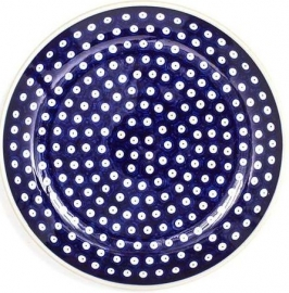 Bunzlau Plate 23,5 cm Blue Eyes