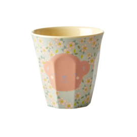 Rice Melamine Kids Cup with Monkey Print - Small