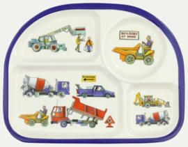 Emma Bridgewater Builders at Work Children 4 Room Melamine Plate