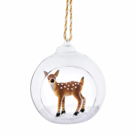 Sass & Belle Winter Forest Folk Deer Open Bauble