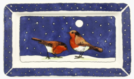 Emma Bridgewater Robins in the Snow Medium Oblong Plate