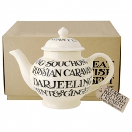Emma Bridgewater Black Toast All Over 4 Cup Teapot Boxed 1,35 liter