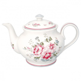 GreenGate Teapot Round Elouise white *product with failure*