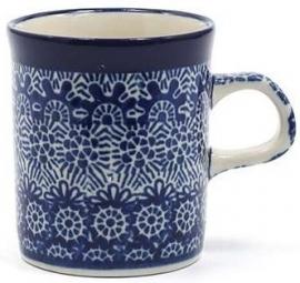 Bunzlau Straight Mug Small 150 ml Lace