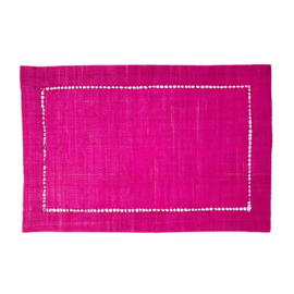 Rice Raffia Placemat in Fuchsia