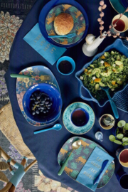 Rice Melamine Soup Bowl in Navy Blue