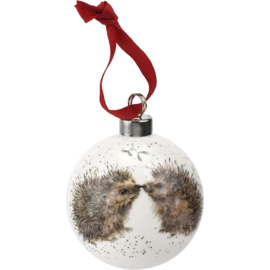 Wrendale Designs 'Hedgehugs' Christmas Bauble