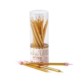 Rice Golden Cake Candles Pack of 16 pcs