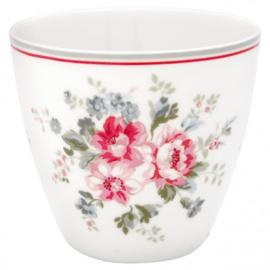 GreenGate Latte Cup Elouise white -stoneware-