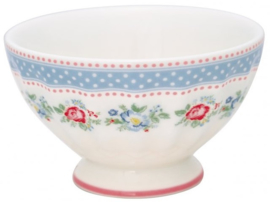 GreenGate French Bowl Medium Evie white -stoneware-