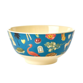 Rice Medium Melamine Bowl - Blue Art Print
