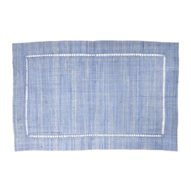 Rice Raffia Placemat in Soft Blue