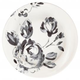 GreenGate Plate Amanda dark grey -stoneware-