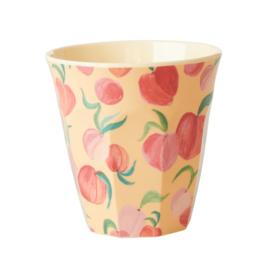 Rice Medium Melamine Cup with Peach Print