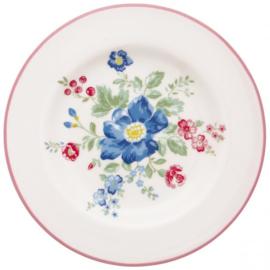 GreenGate Small Plate Roberta pale pink -stoneware-