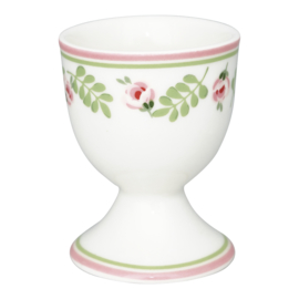 GreenGate Egg Cup Lily Petit White -stoneware-