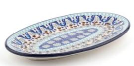 Bunzlau Oval Cookie Dish Marrakesh