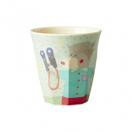 Rice Kids Small Melamine Cup with Boys Happy Camper Print