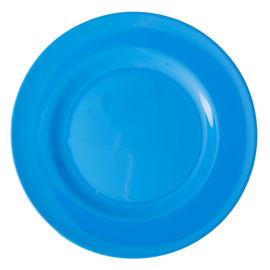 Rice Melamine Round Dinner Plate in Ocean Blue