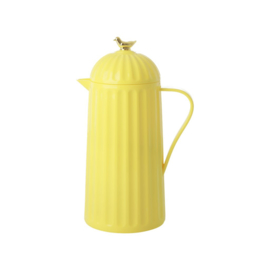 Rice Thermo with Gold Bird on Lid - Yellow - 1 liter