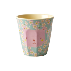 Rice Melamine Kids Cup with Bear Print - Small