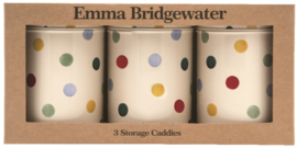 Emma Bridgewater Polka Dot set of 3 Caddy Tins