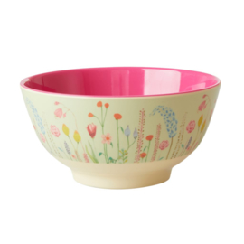 Rice Medium Melamine Bowl - Summer Flowers Print