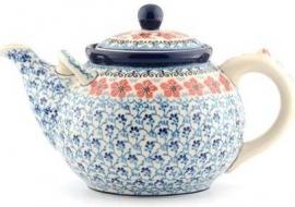 Bunzlau Teapot 3 l Red Violets