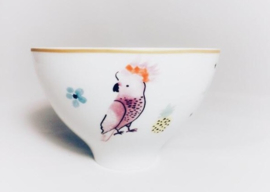 Rice High Porcelain Bowl - Cockatoo Print - Special Edition