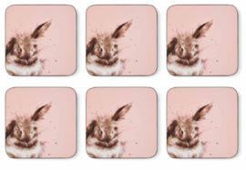 Wrendale Designs Set of 6 Rabbit Coasters