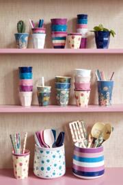 Rice Ceramic Jar for Utensils - Stripe Print
