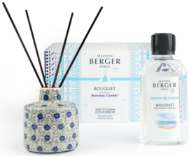 Bunzlau Castle & Maison Berger Perfume Diffuser Set Ocean Breeze - Flower Fountain
