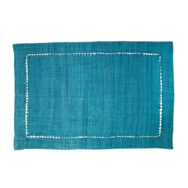 Rice Raffia Placemat in Green